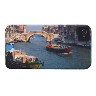 Europe, Italy, Venice. Boats bringing in iPhone 4 Cover