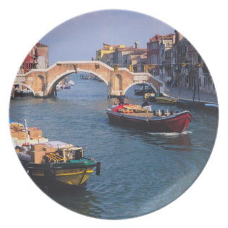 Europe, Italy, Venice. Boats bringing in Plate