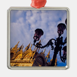 Europe, Italy, Venice. Byzantine Basilica and Christmas Ornament