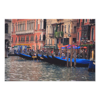 Europe, Italy, Venice, gondolas in canal Photo Print