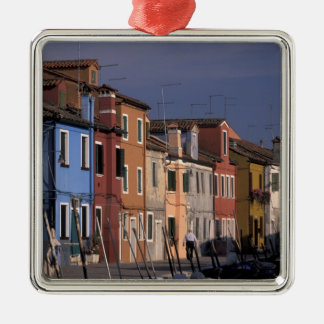Europe, Italy, Venice. Multi, colored houses Christmas Ornament