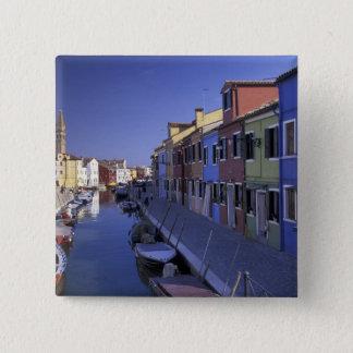 Europe, Italy, Venice, Murano Island, Colorful 15 Cm Square Badge