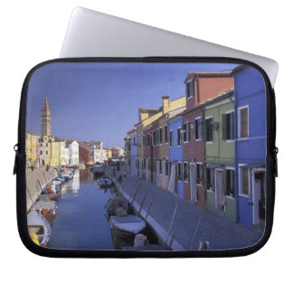 Europe, Italy, Venice, Murano Island, Colorful Laptop Sleeve