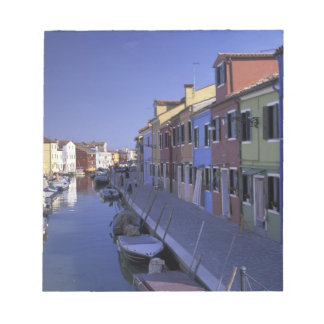 Europe, Italy, Venice, Murano Island, Colorful Notepad