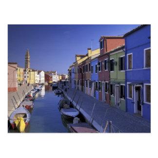 Europe, Italy, Venice, Murano Island, Colorful Postcard