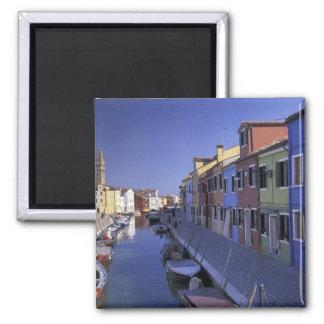 Europe, Italy, Venice, Murano Island, Colorful Square Magnet