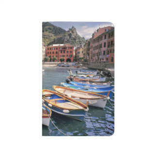 Europe, Italy, Vernazza. Brightly painted boats Journal