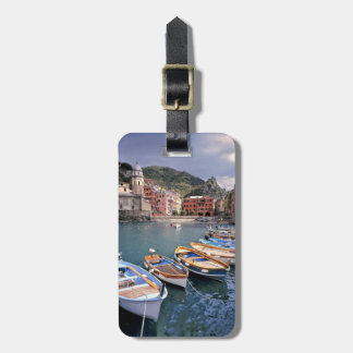 Europe, Italy, Vernazza. Brightly painted boats Luggage Tag
