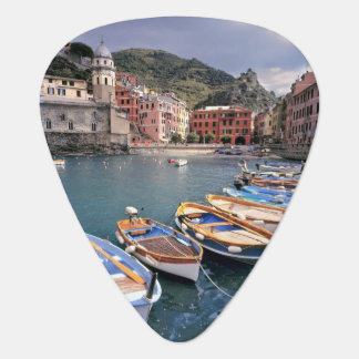 Europe, Italy, Vernazza. Brightly painted boats Plectrum