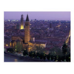 Europe, Italy, Verona, View from the Castel S. Postcard