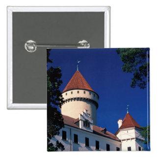 Europe, Konopiste Castle, Czech Republic, statue 15 Cm Square Badge