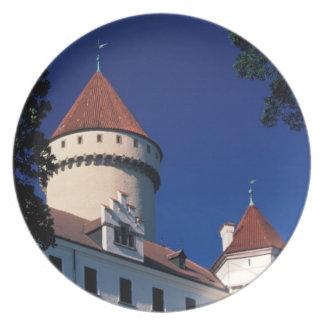 Europe, Konopiste Castle, Czech Republic, statue Plate