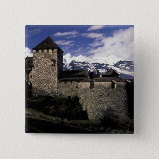 Europe, Liechtenstein, Vaduz. Vaduz castle, 2 15 Cm Square Badge