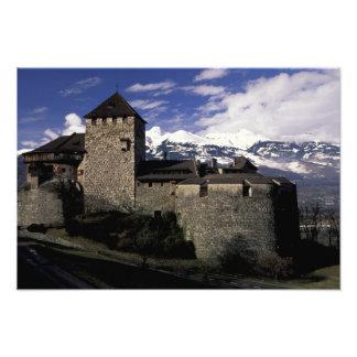 Europe, Liechtenstein, Vaduz. Vaduz castle, 2 Photo Print