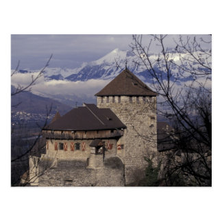 Europe, Liechtenstein, Vaduz. Vaduz castle, Postcard