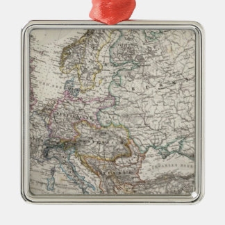 Europe Map by Stieler Christmas Ornament
