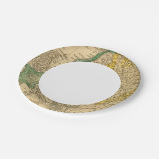 Europe  Map by Worcester 7 Inch Paper Plate