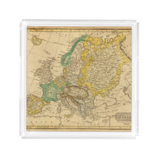 Europe  Map by Worcester Acrylic Tray