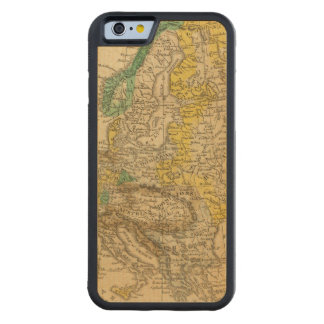Europe  Map by Worcester Carved Maple iPhone 6 Bumper Case