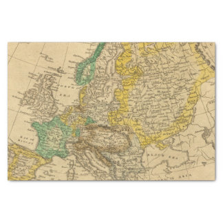 Europe  Map by Worcester Tissue Paper