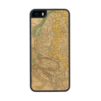 Europe  Map by Worcester Carved® Maple iPhone 5 Slim Case