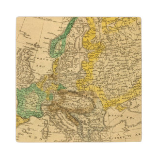 Europe  Map by Worcester Wood Coaster