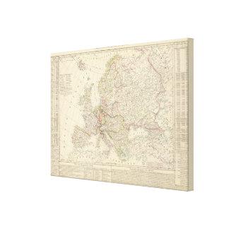 Europe map canvas print