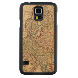 Europe map carved maple galaxy s5 case