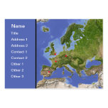 Europe map, customisable! pack of chubby business cards