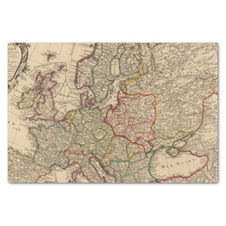 Europe map tissue paper
