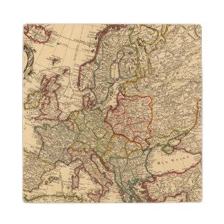 Europe map wood coaster