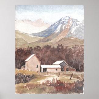 Europe Mountain Scene Poster