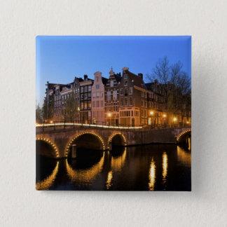 Europe, Netherlands, Holland, Amsterdam, 15 Cm Square Badge