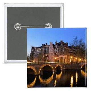Europe, Netherlands, Holland, Amsterdam, 15 Cm Square Badge