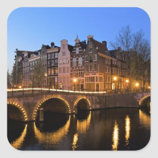 Europe, Netherlands, Holland, Amsterdam, Square Sticker