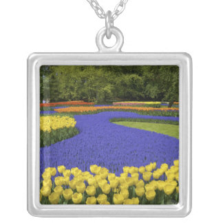 Europe, Netherlands, Holland, Lisse, Keukenhof Silver Plated Necklace