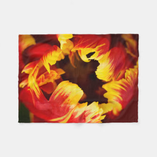 Europe, Netherlands, Lisse. Parrot tulip Fleece Blanket
