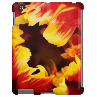 Europe, Netherlands, Lisse. Parrot tulip iPad Case
