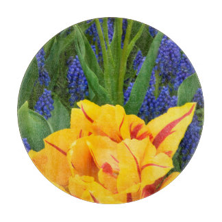 Europe, Netherlands, Lisse. Tulips Cutting Board