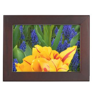 Europe, Netherlands, Lisse. Tulips Keepsake Box