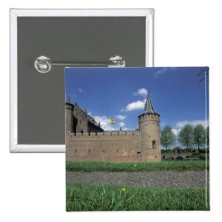 Europe, Netherlands, Muiden Muiden Castle 15 Cm Square Badge