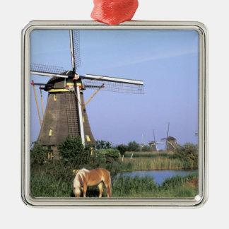 Europe, Netherlands, Zuid Holland, Kinderdijk. 2 Christmas Ornament
