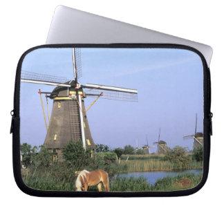 Europe, Netherlands, Zuid Holland, Kinderdijk. 2 Laptop Sleeve