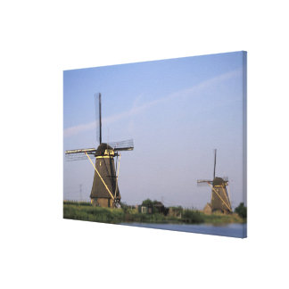 Europe, Netherlands, Zuid Holland, Kinderdijk. Canvas Print