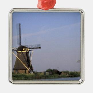 Europe, Netherlands, Zuid Holland, Kinderdijk. Christmas Ornament