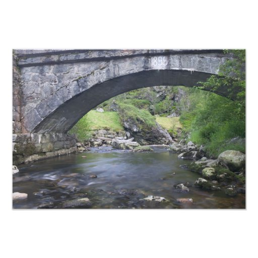 Europe, Norway. Stone Bridge enroute to Bergen Photograph