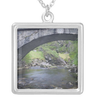 Europe, Norway. Stone Bridge enroute to Bergen Silver Plated Necklace