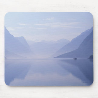 Europe, Norway. Vertical walls reflected in Mouse Mat