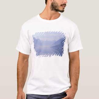 Europe, Norway. Vertical walls reflected in T-Shirt