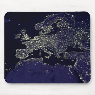 Europe of the night when you saw from ISS Mouse Pad